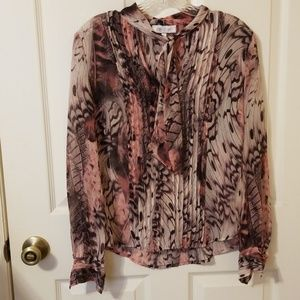 Pink printed blouse
